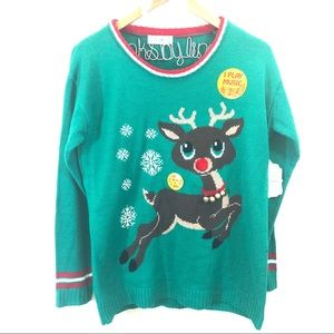 Altar'd State Christmas Singing Rudolph Sweater